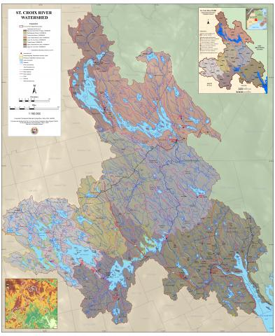 Base Map of the St. Croix River Watershed
