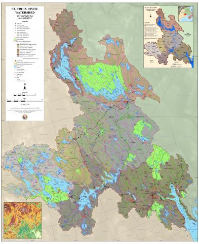 Map of the Environmental Management of the St. Croix River Watershed