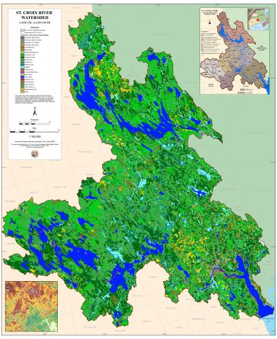Map of the land use and land cover of the St. Croix River Watershed
