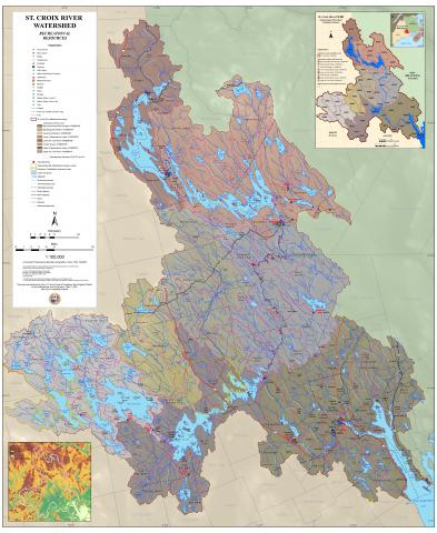 Recreation Resources Map of the St. Croix River Watershed