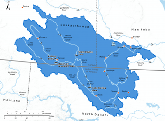 Map of the Souris River watershed