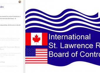 International St. Lawrence River Board of Control Screenshot