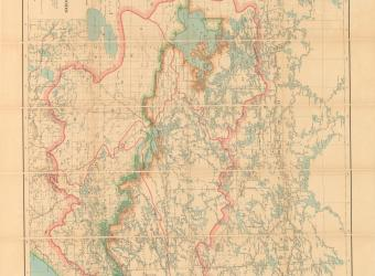 MAP - Watershed map Lake of the Woods - 1916-01-01
