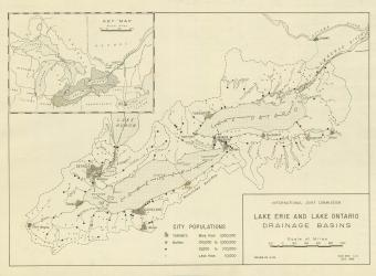 Map - IJC Lake Erie and Lake Ontario Drainage Basins - Eng - 1965-12-01