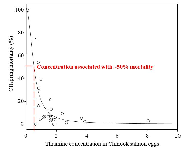 thiamine salmon eggs graph