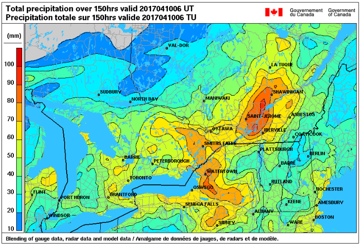 Lake Ontario And St Lawrence River Levels Rise Following April - Us map with st lawrence river